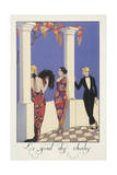Falbalas Et Fanfreluches, Almanac for 1923, Le Gout Des Chales Giclee Print by Georges Barbier
