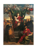 Madonna and Child with Saints Giclee Print by Dosso Dossi
