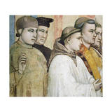 Italy, Florence, Basilica of Holy Cross, Bardi Chapel, Death of St Francis, 1325-1330 Giclee Print by  Giotto