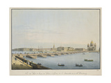 View of St. Isaac's Bridge, the Admiralty and the Winter Palace, St. Petersburg Giclee Print by Christian Gottlob Hammer