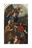 Madonna and Child with St. Martin and St. Charles Borromeo, 1762-1764 Giclee Print by Francesco Fontebasso