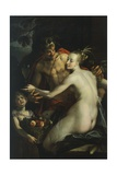 Bacchus, Venus and Cupid Giclee Print by Hans von Aachen