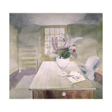 Garden Flowers on a Cottage Table Giclee Print by Eric Ravilious