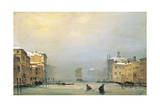 Venice, Snow and Fog on Grand Canal, 1842 Giclee Print by Ippolito Caffi