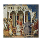 Expulsion of Merchants from Temple, Detail from Life and Passion of Christ, 1303-1305 Giclee Print by  Giotto