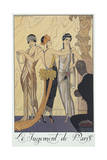 Falbalas Et Fanfreluches, Almanac for 1924,The Judgment of Paris Giclee Print by George Barbier