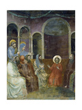 Jesus in Temple Among Doctors, Detail from Life and Passion of Christ Giclee Print by  Giotto