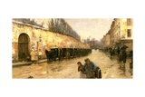Cab Station, Rue Bonaparte, Paris, 1887 Giclee Print by Childe Hassam
