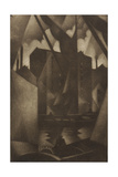 Docks, 1918 Giclee Print by Christopher Richard Wynne Nevinson