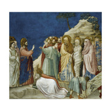 The Resurrection of Lazarus, Detail from Life and Passion of Christ, 1303-1305 Giclee Print by  Giotto