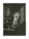 The Lovers Ethel and Ordener are Caught by Lieutenant D'Alpheld - Illustrat Giclee Print by Georges Marie Rochegrosse