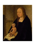 The Virgin with Child, Detail from Adoration of the Magi, 1510 Giclee Print by Hieronymus Bosch