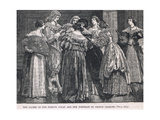 Ladies of the French Court and the Portrait of Prince Charles 1624 Giclee Print by Gordon Frederick Browne