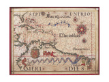 Map of Caribbean, Antilles and Northern South America Giclee Print by Diego Homen