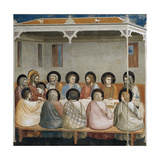 The Last Supper, Detail from Life and Passion of Christ, 1303-1305 Giclee Print by  Giotto