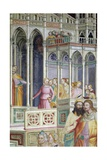 Medieval City, Detail from Presentation of Mary in Temple Giclee Print by Giovanni Da Milano