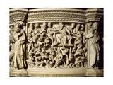 Figures of Prophets Framing Massacre of Innocents, Scene from Life of Christ Giclée-Druck von Giovanni Pisano