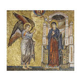 Annunciation, Detail of Coronation of Virgin and Stories of Mary Giclee Print by Jacopo Torriti