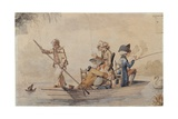 Patience in a Punt, 1780S Giclee Print by Henry William Bunbury