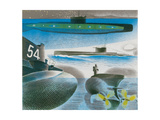 Different Aspects of Submarines, 1941 Giclee Print by Eric Ravilious