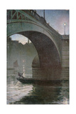 Old Southwark Bridge, C.1919 Giclee Print by Christopher Richard Wynne Nevinson