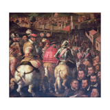 The Triumph after the War with Siena from the Ceiling of the Salone Dei Cinquecento, 1565 Giclée-Druck von Giorgio Vasari