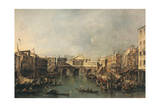 The Rialto Bridge Giclee Print by Francesco Guardi