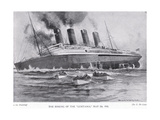 The Sinking of the Lusitania, May 7, 1915 Giclee Print by Charles John De Lacy