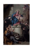 Madonna and Child with Saints Joseph, Margaret of Cortona, Anthony of Padua Giclee Print by Giovanni Battista Pittoni