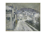 Snow in Pont-Aven; Neige a Pont-Aven, 1922 Giclee Print by Gustave Loiseau