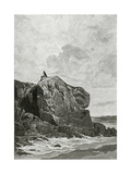 The Rock of the Exiled in Jersey, 19th Century Giclee Print by Fortune Louis Meaulle