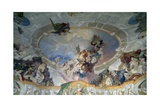 Mythological Subject, Detail from Painted Ceiling of Vassalli Hall, 1759 Giclee Print by Franz Anton Maulbertsch