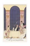 Falbalas Et Fanfreluches, Almanac for 1925: La Gourmandise Giclee Print by Georges Barbier