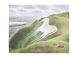 The Westbury Horse Giclee Print by Eric Ravilious