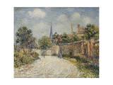 The Village Street; La Rue De Village Giclee Print by Gustave Loiseau