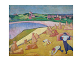 Harvest Time by the Sea, 1891 Giclee Print by Emile Bernard
