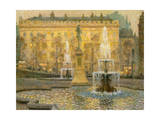 Trafalgar Square, London, 1908 Giclee Print by Henri Eugene Augustin Le Sidaner