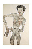 Self Portrait Standing, 1910 Giclee Print by Egon Schiele