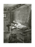 Gwynplaine and Dea Sleeping on a Chest - Illustration from L'Homme Qui Rit, 19th Century Giclee Print by Georges Marie Rochegrosse