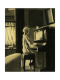 Dorothy Playing the Piano, 30th November 1931 Giclee Print by George Adamson
