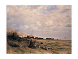 The Rest on the Beach, 1880 - 1885 Giclee Print by Demetrio Cosola
