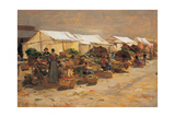 The Vegetable Market, 1880 - 1885 Lámina giclée por Demetrio Cosola