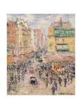 La Rue De Clignancourt, 1925 Giclee Print by Gustave Loiseau