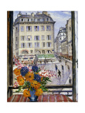 Autumn Bouquet; View from a Paris Window Giclee Print by Christopher Richard Wynne Nevinson