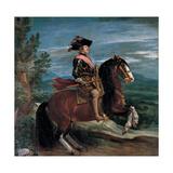 Philip IV on Horseback, 1635 Giclee Print by Diego Rodriguez de Silva y Velazquez