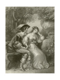 Enamoured Days Giclee Print by Edward Henry Corbould