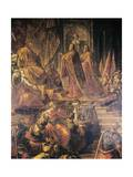 Ambassadors of Pope and Venetians Pleading with Barbarossa for Peace in Vain Giclee Print by Jacopo Tintoretto