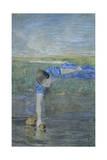 Women at River Giclee Print by Giovanni Segantini