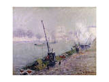 Paris, the Henri IV Bridge, in the Morning; Paris, Le Pont Henri IV, Le Matin Giclee Print by Gustave Loiseau