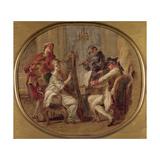 Concert with Four Figures, C.1774 Giclée-Druck von Francois Andre Vincent
